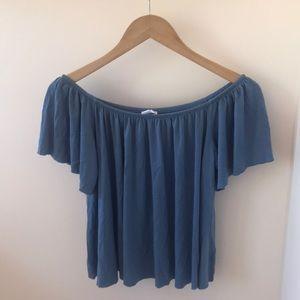 Nordstrom blue off-the-shoulder-top
